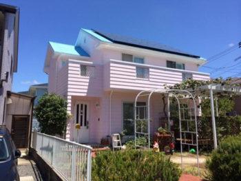 防府市 Y様邸 遮熱塗料ガイナ・外壁屋根塗装 リフォーム施工事例