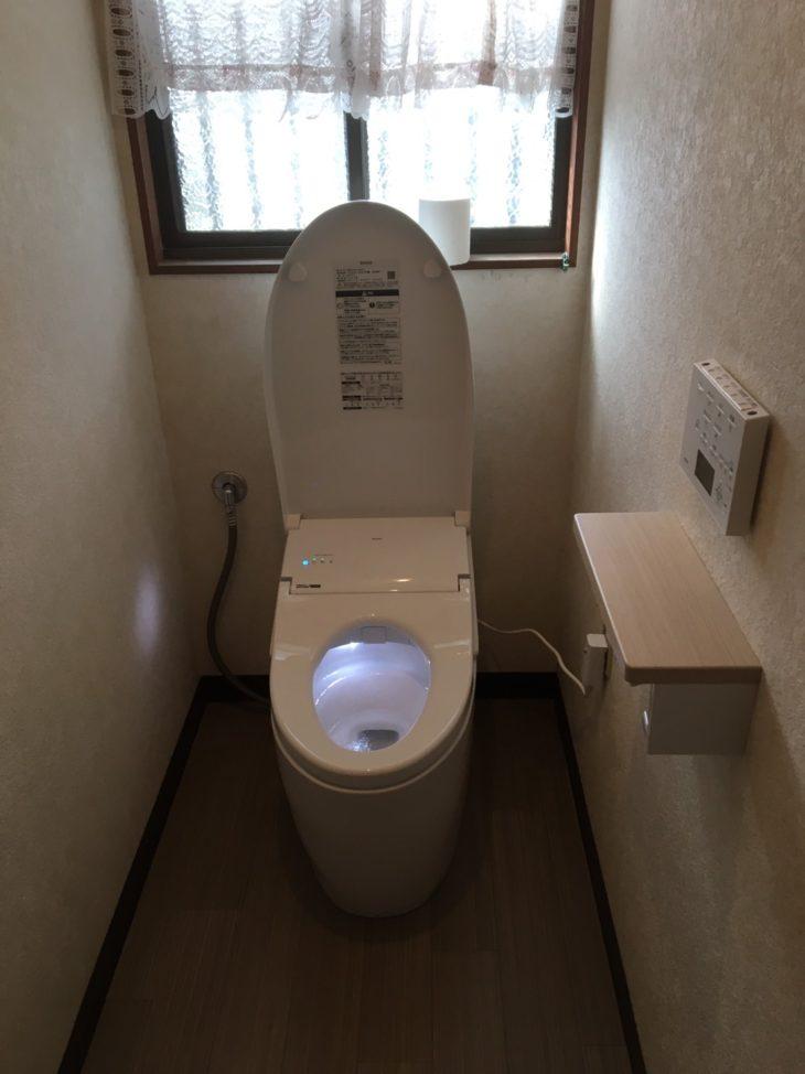 周南市 トイレ交換、換気扇工事
